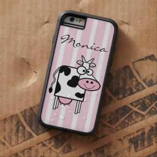 Coque Tough Xtreme iPhone 6 Poster de animal Girly de sourire de vache décoré