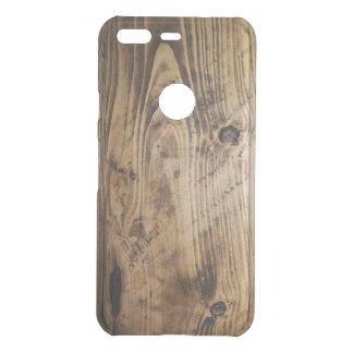 Coque Uncommon Google Pixel brun en bois de nature de textures