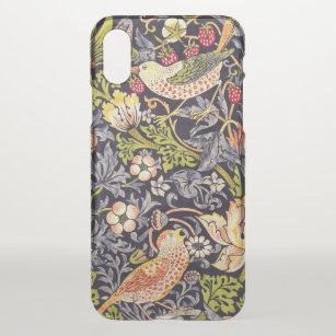 Coque iPhone X William Morris Strawberry Thief Floral Art nouveau