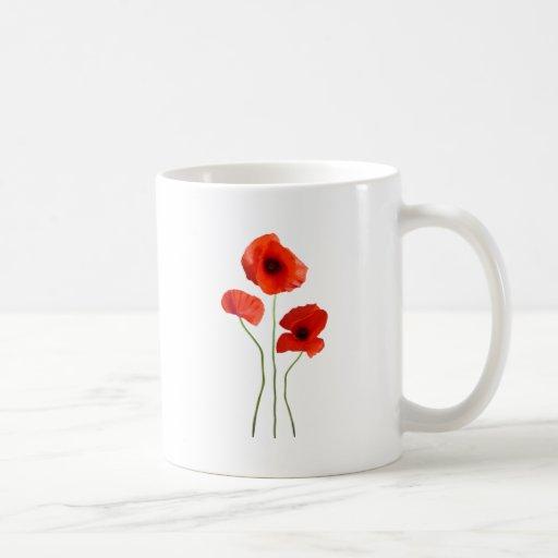 coquelicot -poppy mug à café