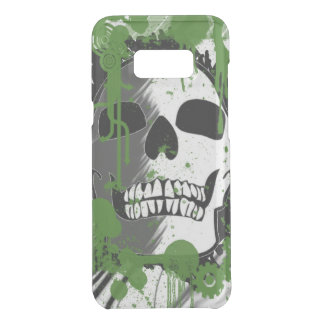 Coquer Get Uncommon Samsung Galaxy S8 Plus Art vert de graffiti de tête de crâne