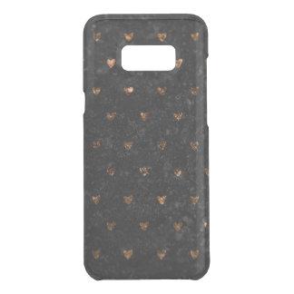 Coquer Get Uncommon Samsung Galaxy S8 Plus Coeurs de cuivre métalliques de velours écrasés