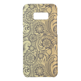 Coquer Get Uncommon Samsung Galaxy S8 Plus Conception de motif de fleur d'or