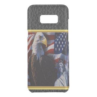Coquer Get Uncommon Samsung Galaxy S8 Plus Eagle chauve une statue de la liberté un drapeau