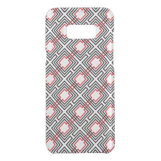 Coquer Get Uncommon Samsung Galaxy S8 Plus Géométrique rouge et blanc noir