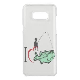 Coquer Get Uncommon Samsung Galaxy S8 Plus J'aime aller pêcher avec un coeur rouge