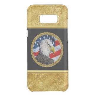 Coquer Get Uncommon Samsung Galaxy S8 Plus Le chef d'Eagle et une feuille d'or de drapeau