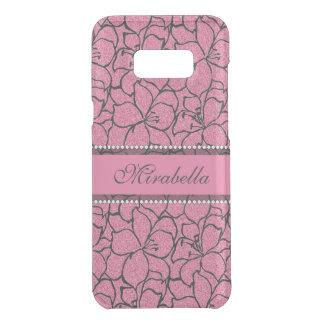 Coquer Get Uncommon Samsung Galaxy S8 Plus Lis roses luxuriants avec le contour noir,