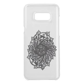 Coquer Get Uncommon Samsung Galaxy S8 Plus Mandala noir 2 de fleur