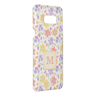 Coquer Get Uncommon Samsung Galaxy S8 Plus Monogramme de motif de fleur de broderie