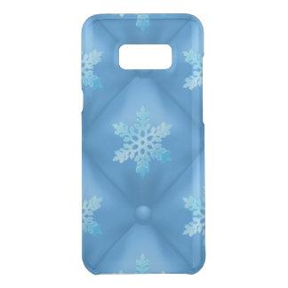 Coquer Get Uncommon Samsung Galaxy S8 Plus Motif de flocon de neige de Noël de bleu royal