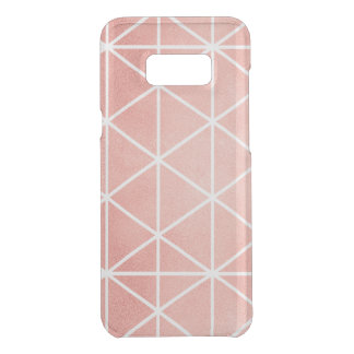 Coquer Get Uncommon Samsung Galaxy S8 Plus Motif rose de Traingle de feuille d'or de Faux