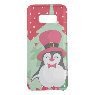 Coquer Get Uncommon Samsung Galaxy S8 Plus Pingouin de fête avec Sleigh - rouge