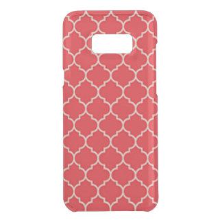 Coquer Get Uncommon Samsung Galaxy S8 Plus Quatrefoil rouge et blanc