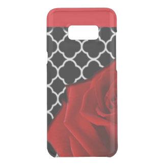 Coquer Get Uncommon Samsung Galaxy S8 Plus Rose rouge et motif de Quatrefoil