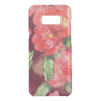 Coquer Get Uncommon Samsung Galaxy S8 Plus Roses d'aquarelle avec des verts