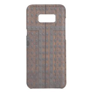 Coquer Get Uncommon Samsung Galaxy S8 Plus Vieille porte en bois avec des renforts noirs en