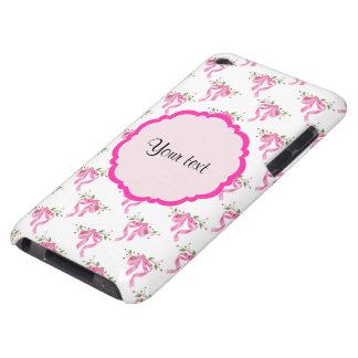 Coques Barely There iPod Arcs romantiques roses élégants