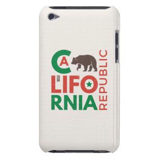 Coques Barely There iPod La Californie avec le logo d'ours gris