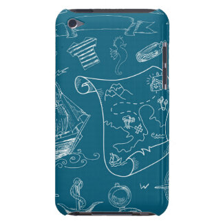 Coques Barely There iPod Motif graphique nautique de modèle