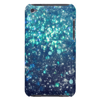 Coques Barely There iPod Parties scintillantes de turquoise