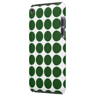 Coques Barely There iPod Pois vert sur le blanc