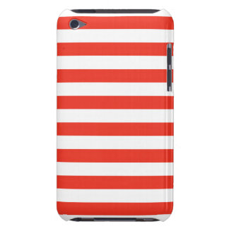 Coques Barely There iPod Rayures rouges horizontales