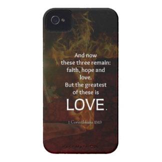 Coques Case-Mate iPhone 4 1 citation de vers de bible de 13h13 de
