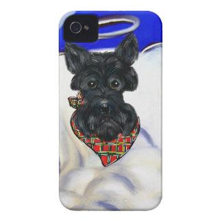 Coques Case-Mate iPhone 4 Ange noir de Terrier d'écossais