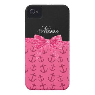 Coques Case-Mate iPhone 4 Arc rose nommé personnalisé de parties