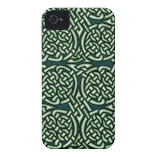 Coques Case-Mate iPhone 4 Art celtique vert de knotwork