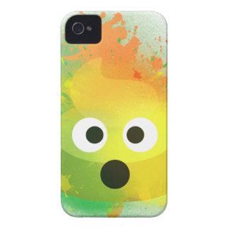 Coques Case-Mate iPhone 4 Art de peinture de jet de jaune de dunette d'Emoji
