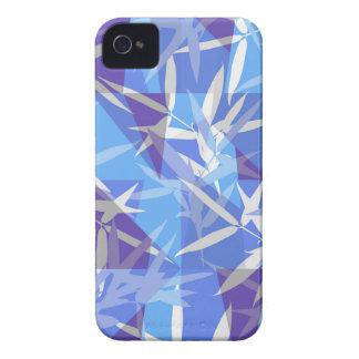 Coques Case-Mate iPhone 4 Bambou dans le motif géométrique bleu