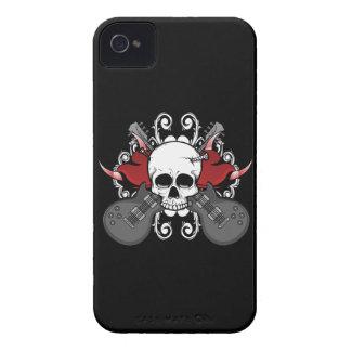 Coques Case-Mate iPhone 4 Cas de l'iPhone 4 de musique de guitares de crâne