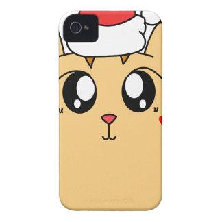 Coques Case-Mate iPhone 4 Chat mignon de Kitty de Noël