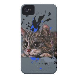 Coques Case-Mate iPhone 4 Dessin de chaton comme chat avec l'art de peinture