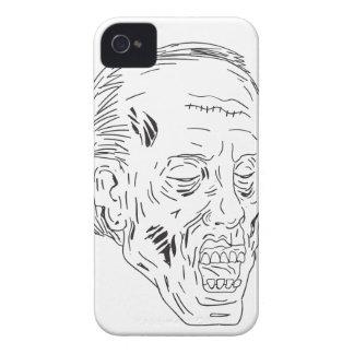 Coques Case-Mate iPhone 4 Dessin fermé de yeux principaux de zombi