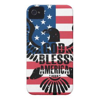 Coques Case-Mate iPhone 4 Dieu bénissent l'Amérique