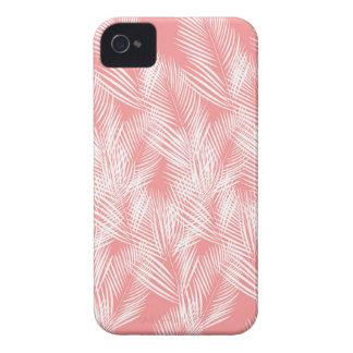 Coques Case-Mate iPhone 4 Exotico de blanc de rose de paumes de conception