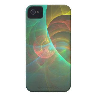 Coques Case-Mate iPhone 4 Fractale abstraite multicolore