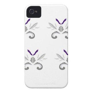 Coques Case-Mate iPhone 4 Gris blanc d'ornements de luxe
