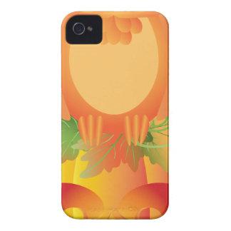 Coques Case-Mate iPhone 4 Hibou de Halloween se reposant sur l'illustration