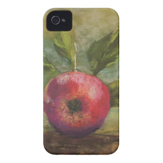 Coques Case-Mate iPhone 4 Illustrations originales peignant la pomme rouge