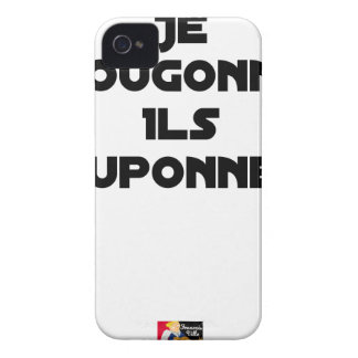 Coques Case-Mate iPhone 4 JE BOUGONNE, ILS POUPONNENT - Jeux de mots