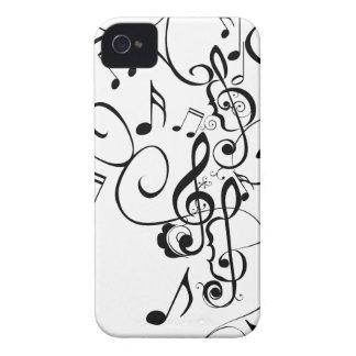 Coques Case-Mate iPhone 4 La musique note l'ornement floral 3