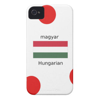 Coques Case-Mate iPhone 4 Langue de la Hongrie et conception de drapeau