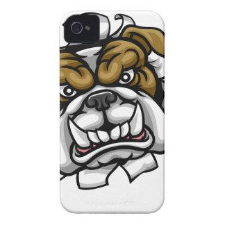 Coques Case-Mate iPhone 4 Le golf de bouledogue folâtre la mascotte