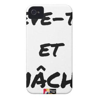Coques Case-Mate iPhone 4 LÈVE-TOI ET MÂCHE - Jeux de mots - Francois Ville
