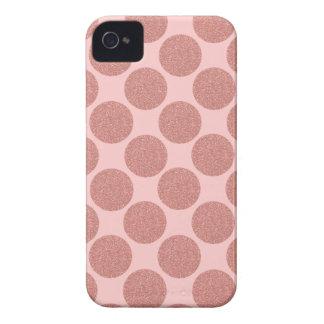 Coques Case-Mate iPhone 4 L'or rose de parties scintillantes audacieuses