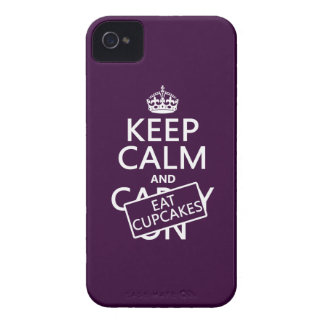 Coques Case-Mate iPhone 4 Maintenez calme et mangez les petits gâteaux